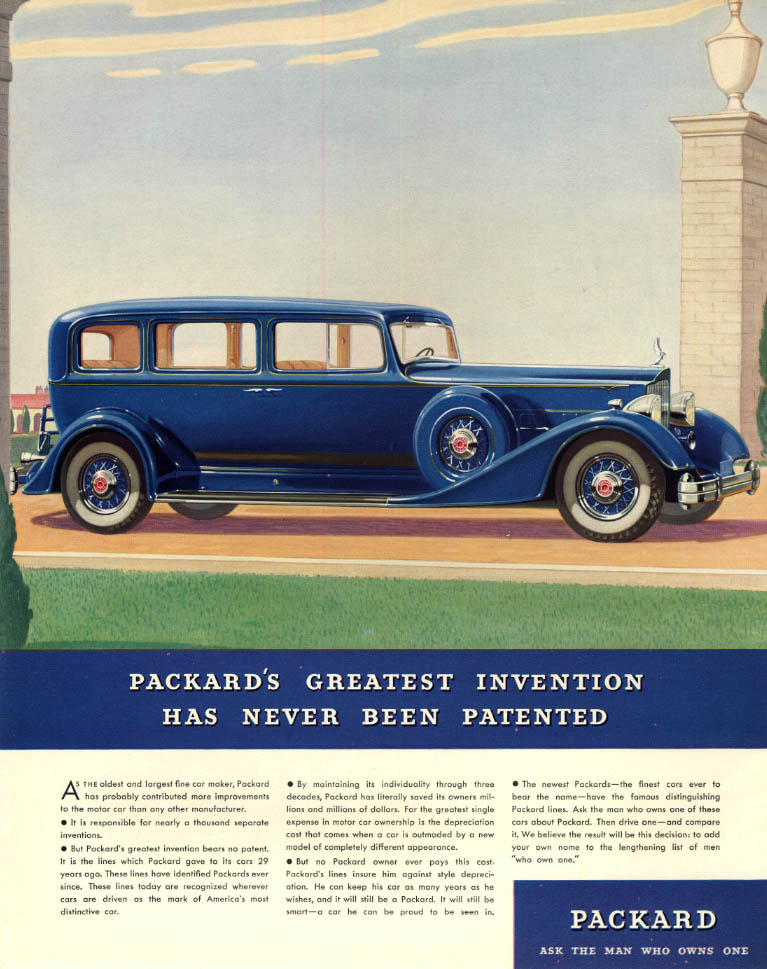 Packard's Greatest Invention Has Never Been Patented ad 1934 F