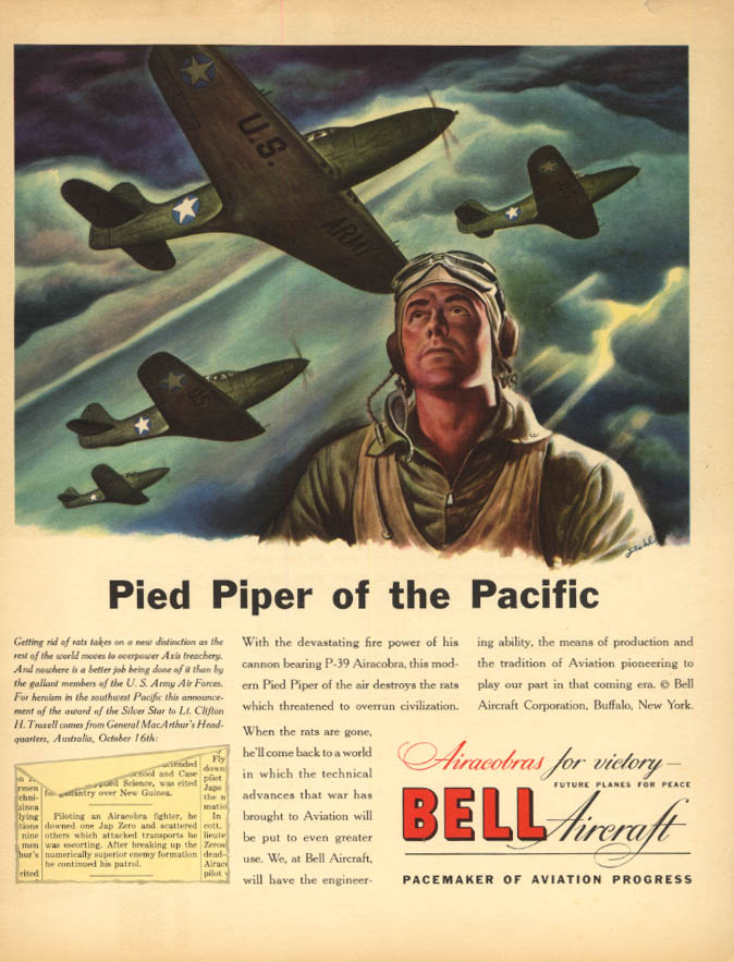 Image for Pied Piper of the Pacific: Bell P-39 Airacobra ad 1943 F