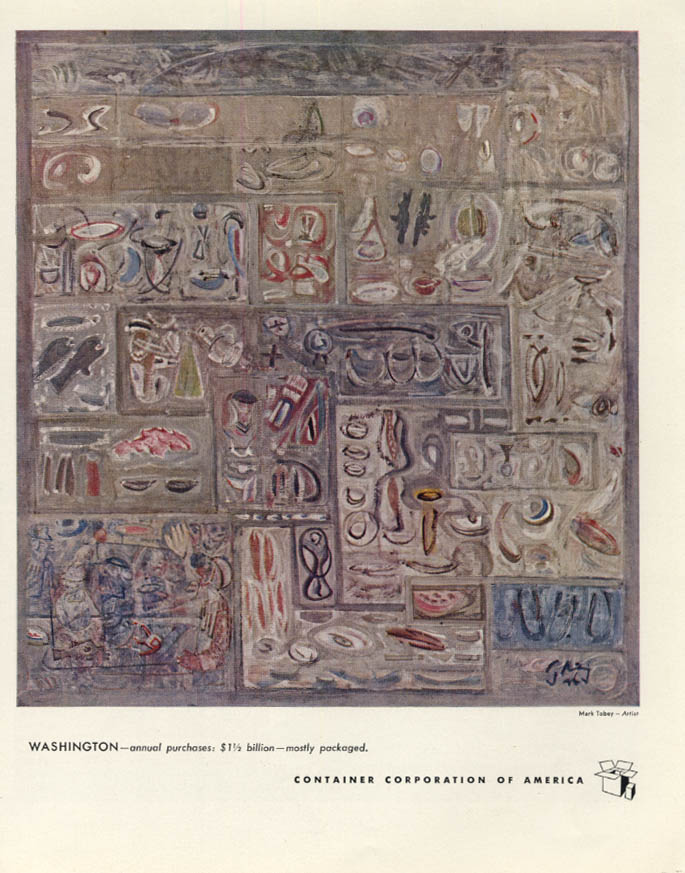 Image for Washington State: Container Corporation of America ad 1948 Mark Tobey art F
