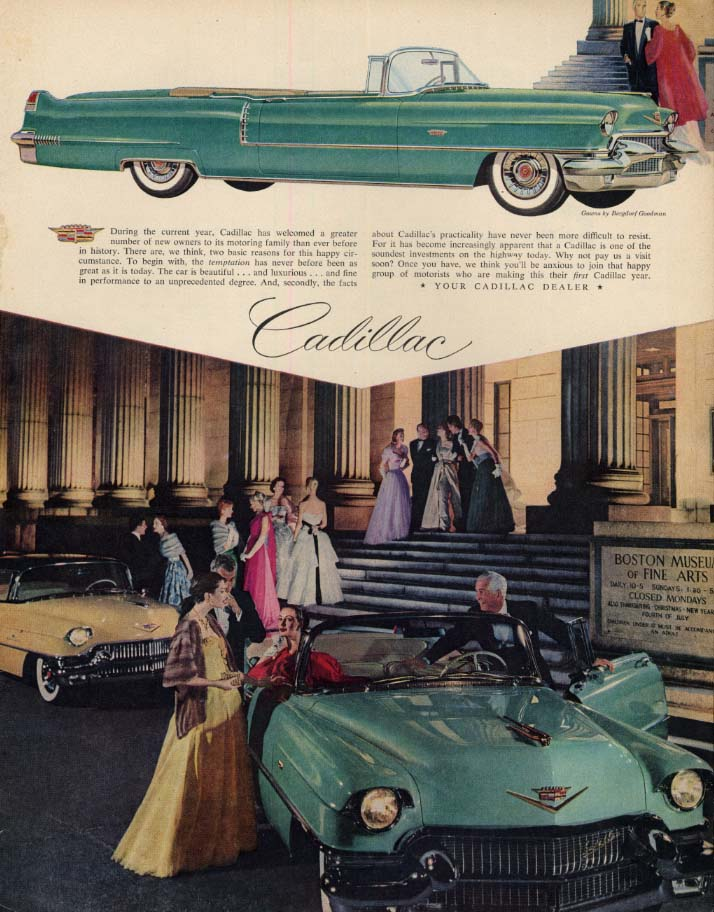 Image for During the current year Cadillac Convertible has welcomed new owners ad 1956 LK