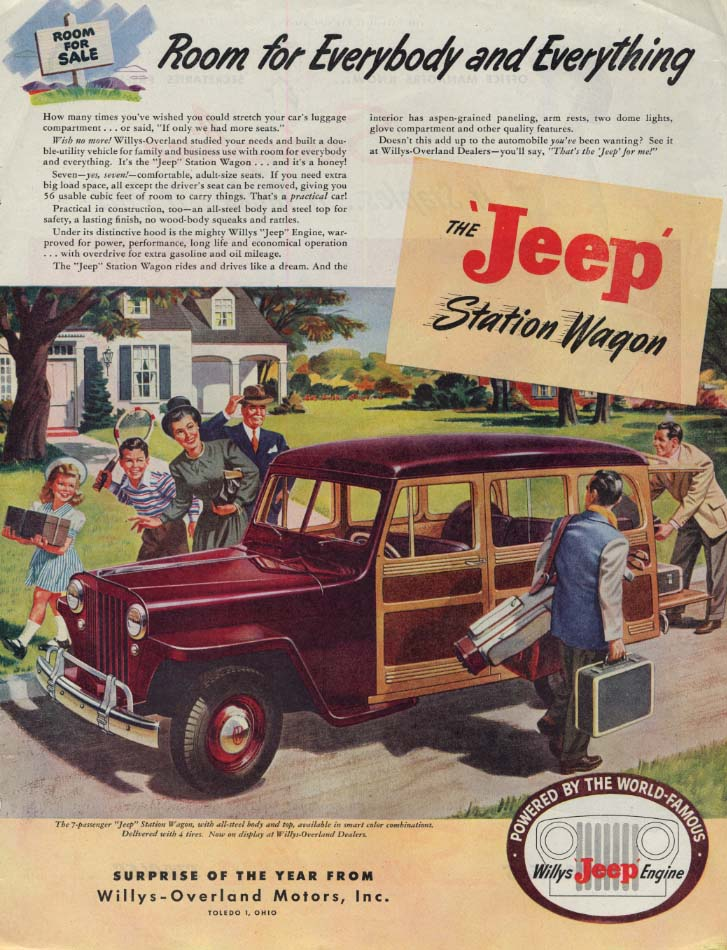 Image for Room for Everybody & Everything - Jeep Station Wagon ad 1946 SEP