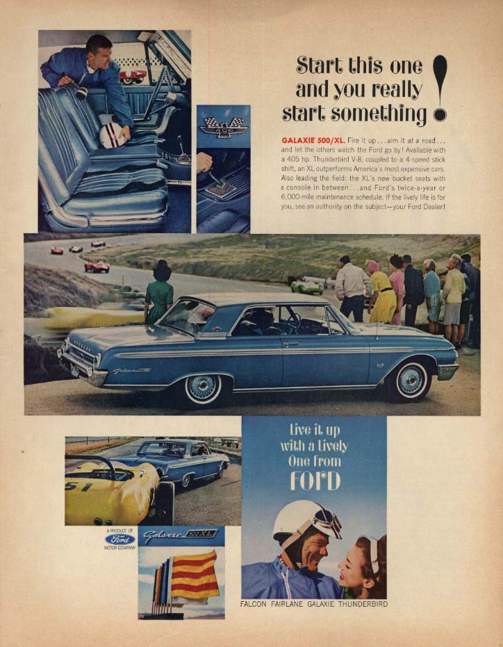 Image for Start this one & you really start something! Ford Galaxie 500/XL ad 1962 SEP