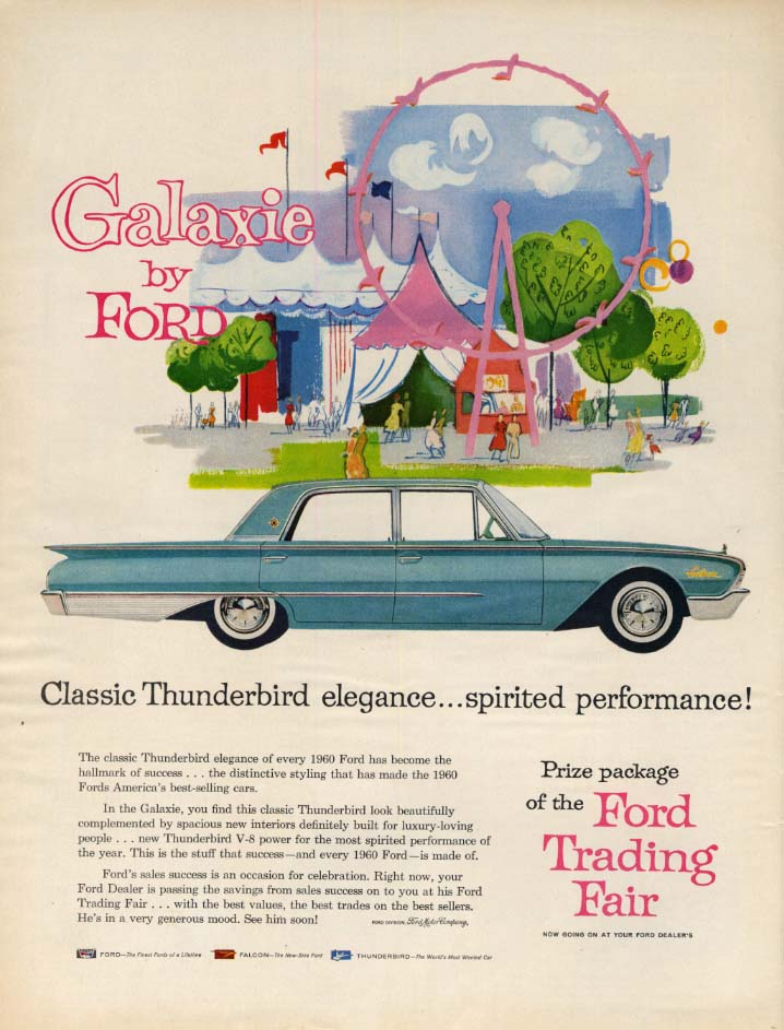 Image for Classic Thunderbird elegance - spirited performanbce Ford Galaxie ad 1960 L