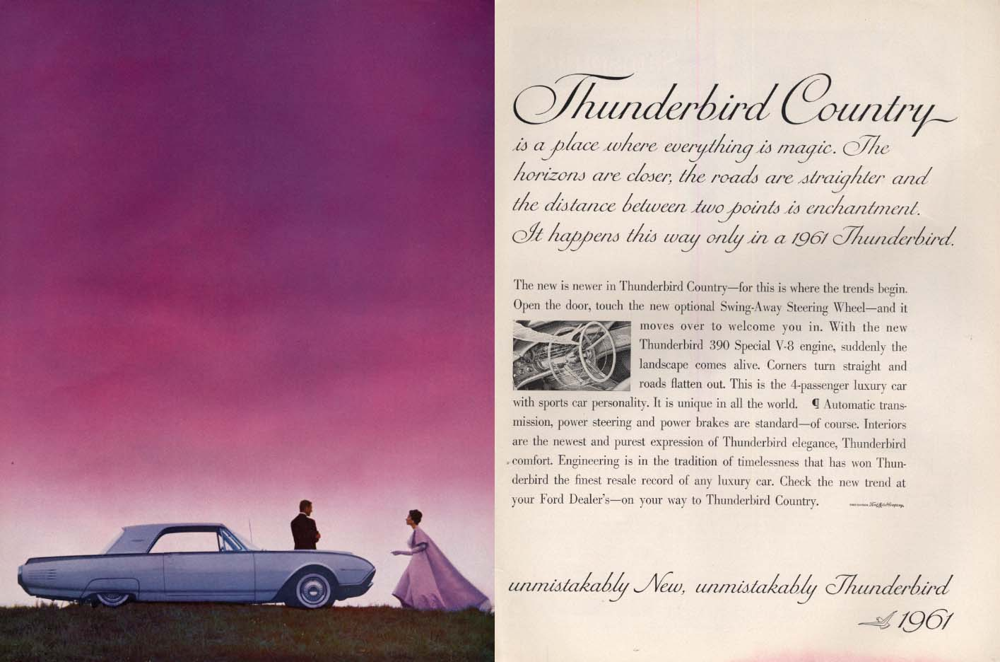 Image for Thunderbird Country where everything is magic Thunderbird Coupe ad 1961 H
