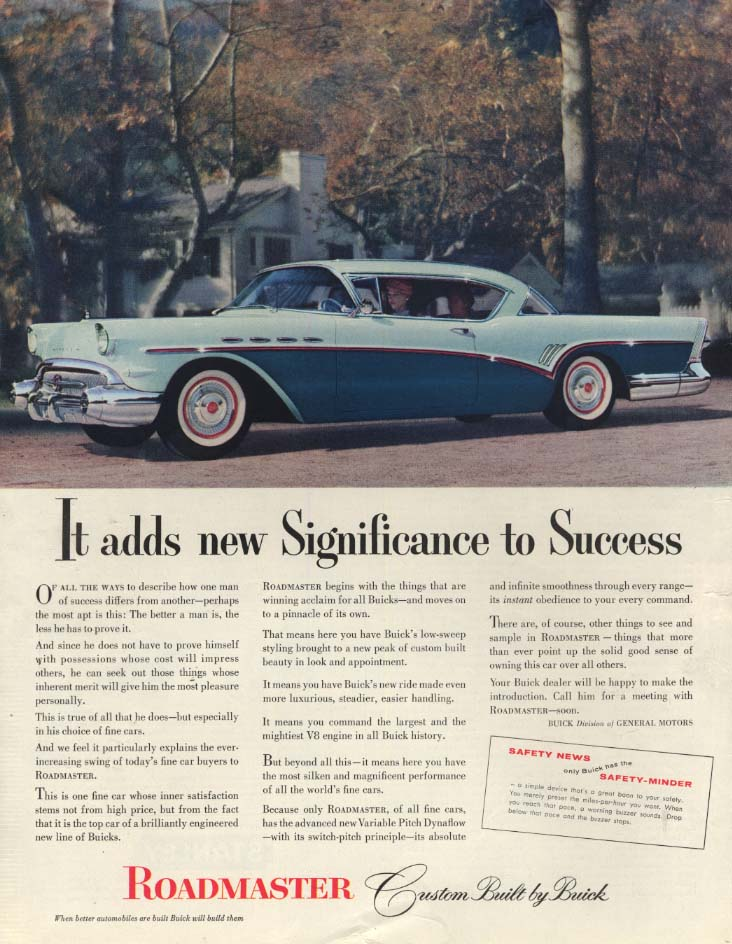 Image for It adds new Significance to Success: Buick Roadmaster 2-door hardtop ad 1957 SEP