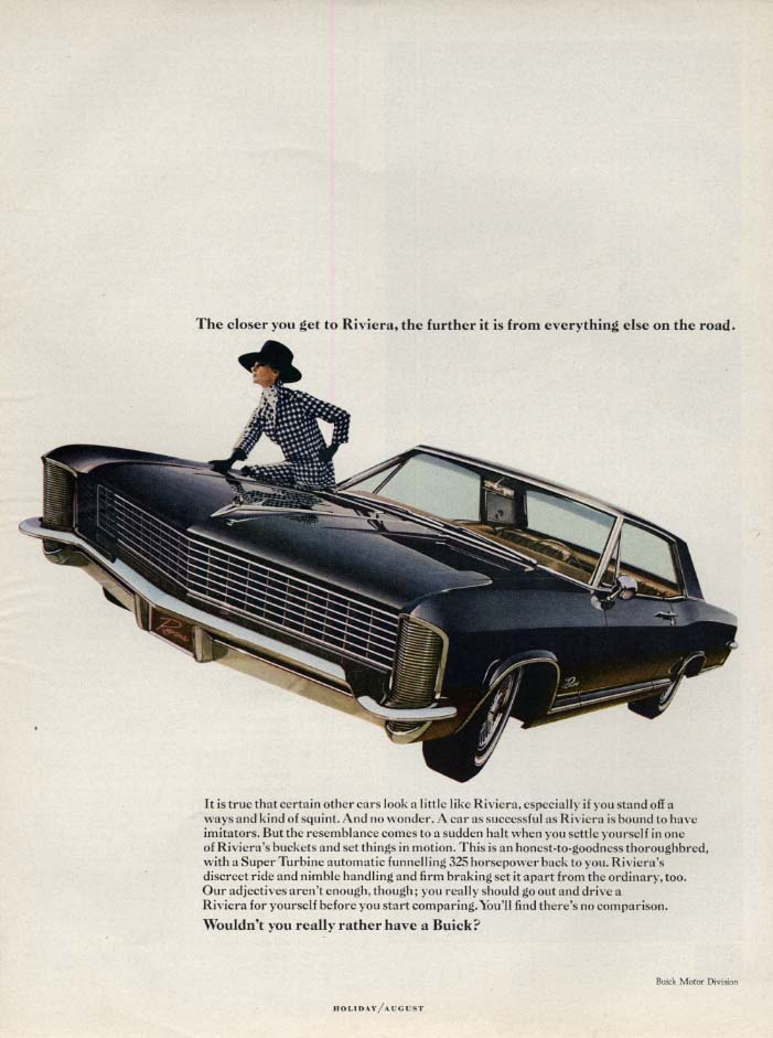 Image for The closer you get the farther it is from everything else Buick Riviera ad 1965