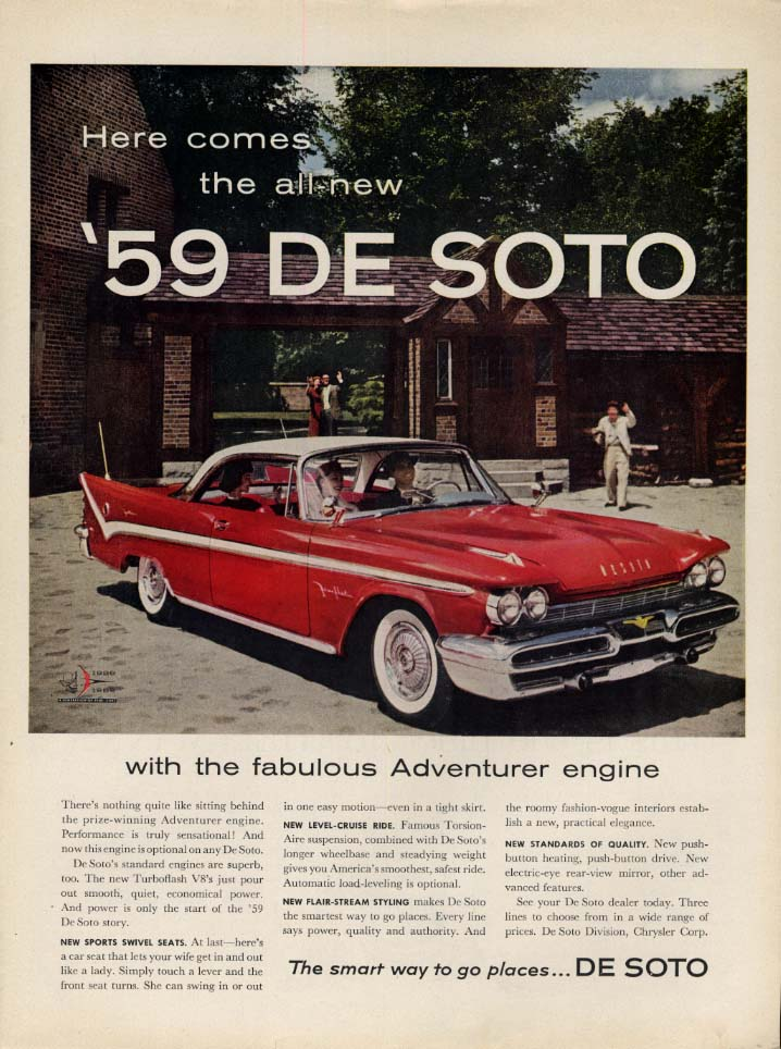 Image for Here comes the all new 1959 De Soto Fireflite Harttop ad L