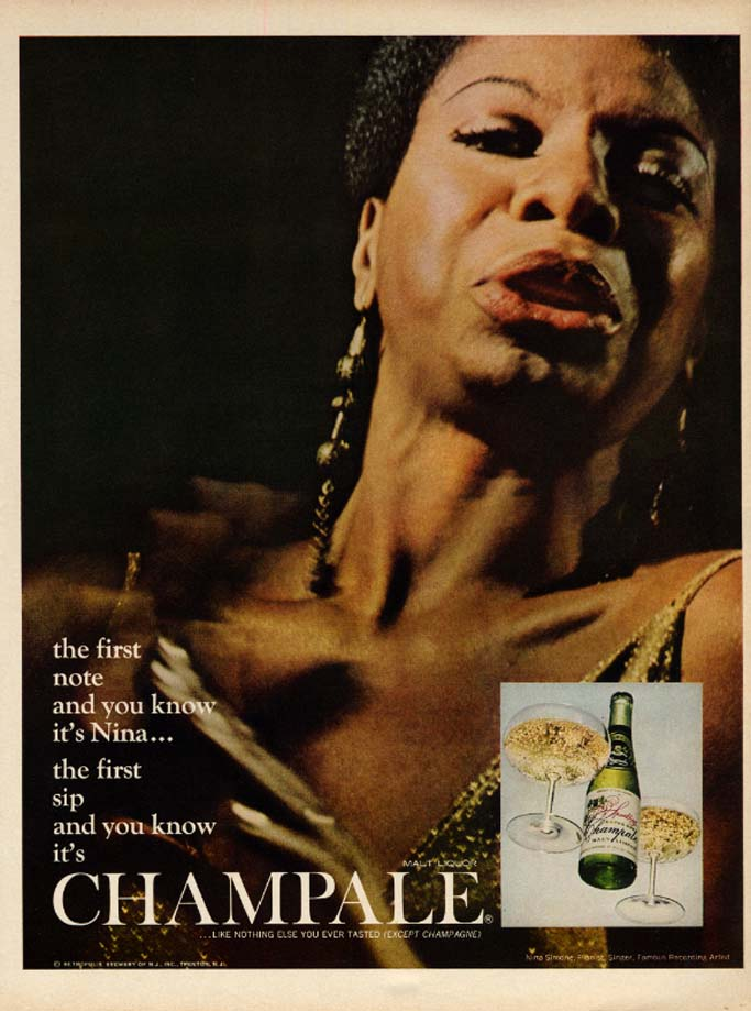 Image for The first note & you know it's Nina Simone for Champale ad 1967