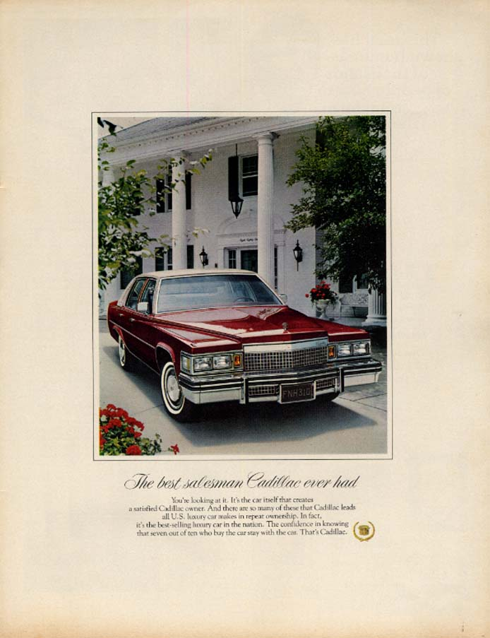 Image for The best salesman Cadillac ever had ad 1979 EB