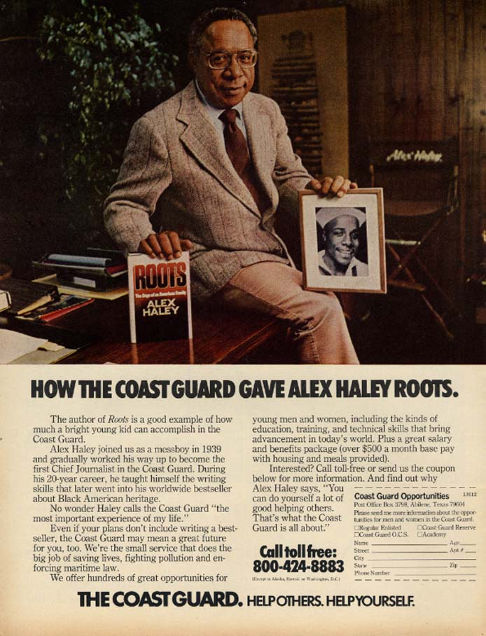 Image for How the Coast Guard Gave Alex Haley Roots ad 1981 EB