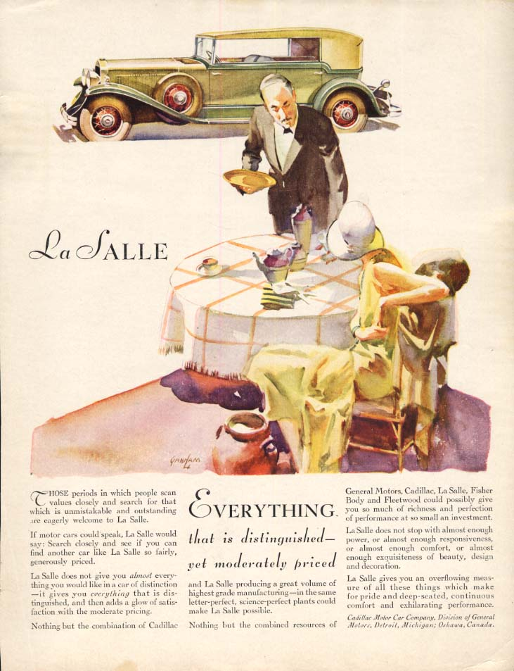 Everything that is distinguished La Salle Convertible Sedan ad 1930 WHC