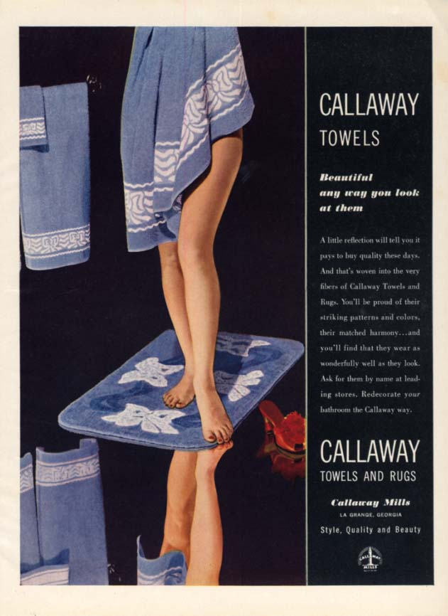 Beautiful any way you look at them Callaway Towels ad 1943 towel nude H&G