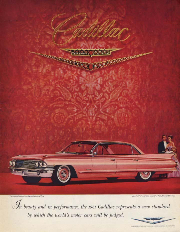 In beauty & performance a new standard Cadillac 4-door hardtop ad 1961 SEP