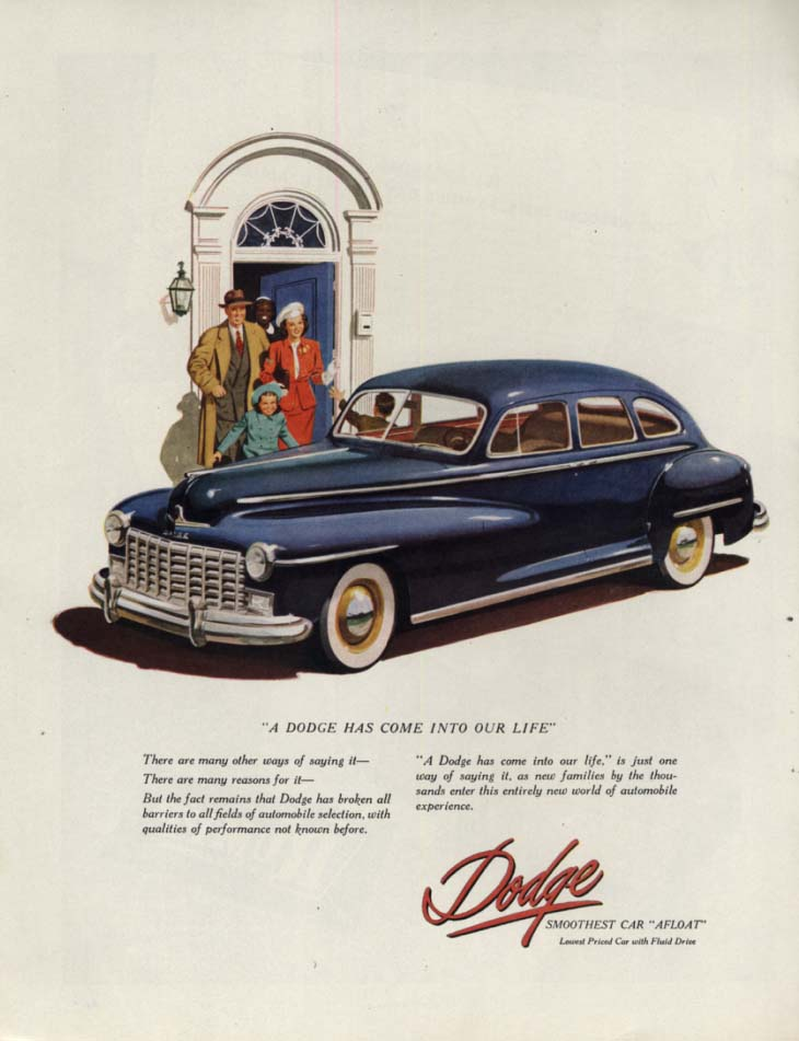 A Dodge Has Come Into Our Life ad 1948 H