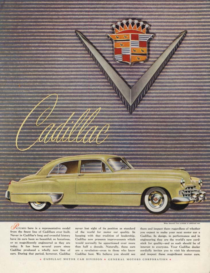 Here is a representative model of the new Cadillac ad 1948 H