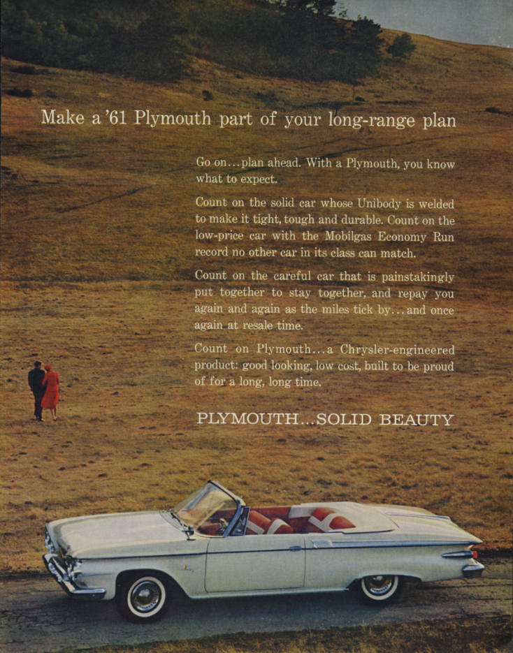 Image for Make a Plymouth Fury Convertible part of your long-range plan ad 1961 SEP