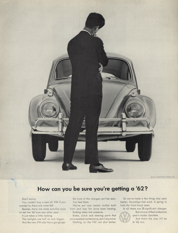 Image for How can you be sure you're getting a 1962 Volkswagen? Ad 1962 SEP