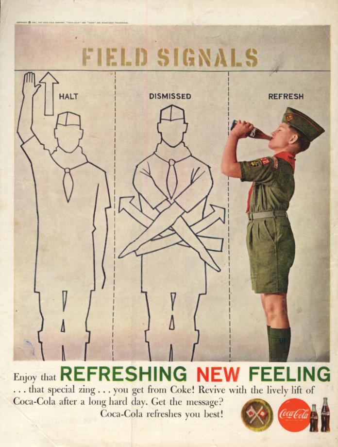 Image for Boy Scout Field Signals Coca-Cola ad 1961 BL