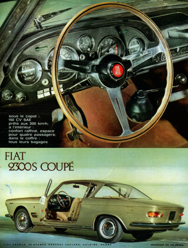Image for Sous le capot 150 CV SAE - Fiat 2300S Coupe ad 1962 in French
