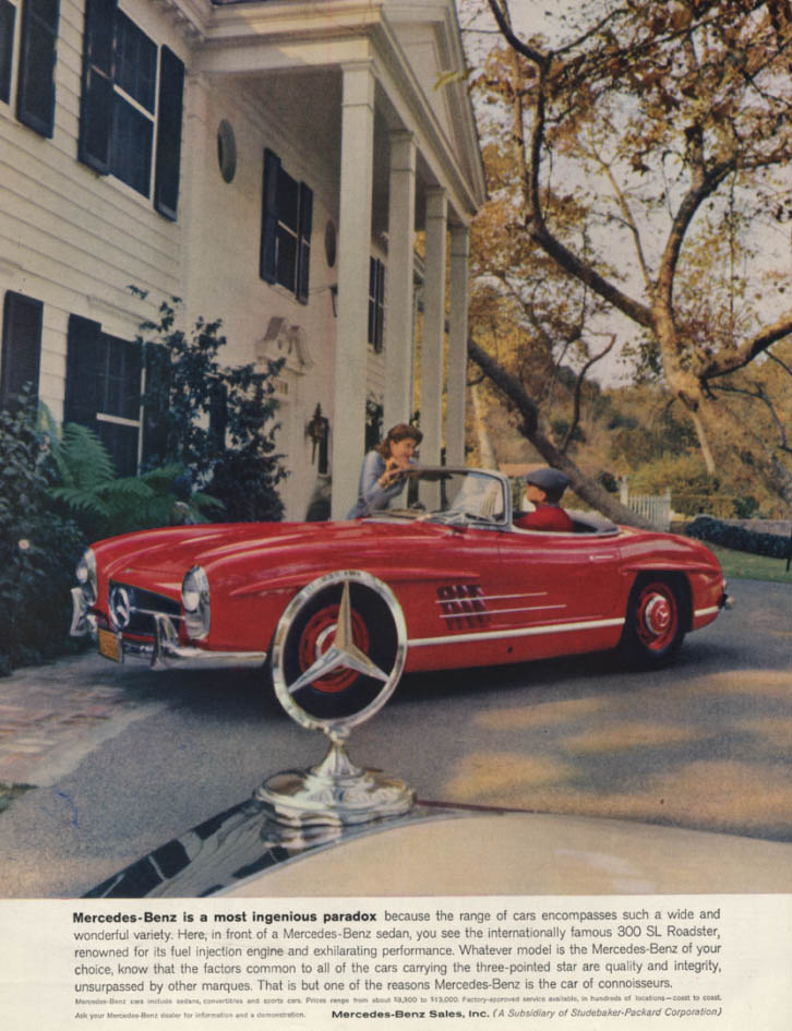 Image for A most ingenious paradox Mercedes-Benz 300 SL Roadster ad 1959 H