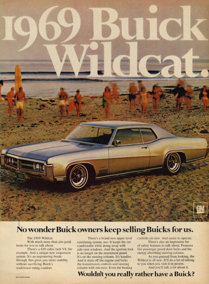 Image for No wonder owners keep selling Buick Wildcat for us ad 1969 ESQ