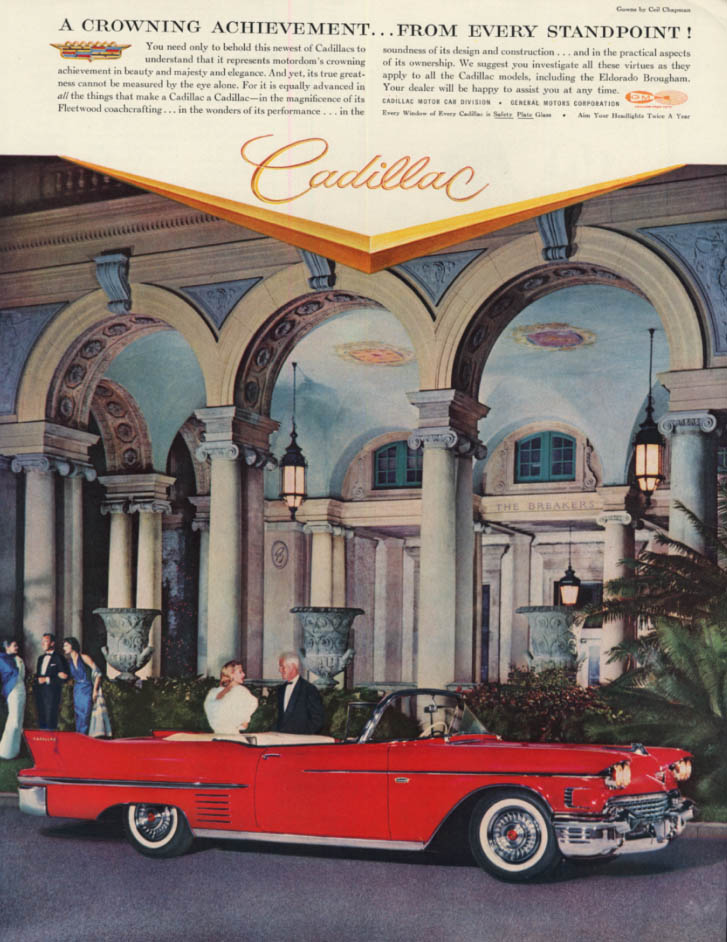 A crowning achievement from every standpoint Cadillac Convertible ad 1958 H