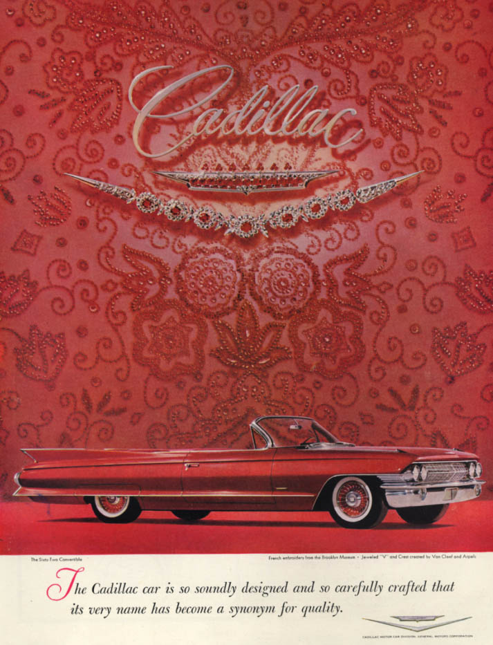 Image for Soundly designed & carefully crafted Cadillac Sixty-Two Convertible ad 1961 H