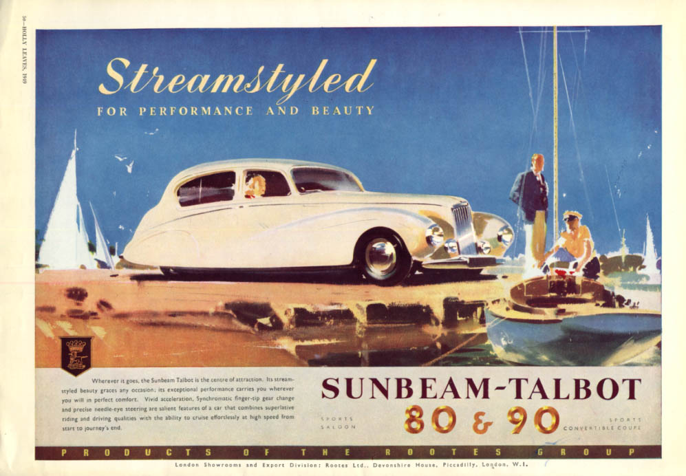 Image for Streamstyled for performance and beauty - Sunbeam-Talbot 80 & 90 ad 1950