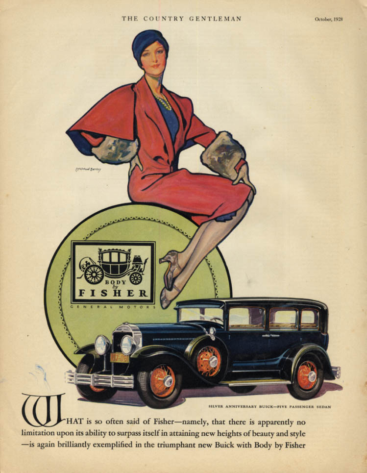 Image for Silver Anniversary Buick Five-Passenger Sedan Body by Fisher ad 1929 CG