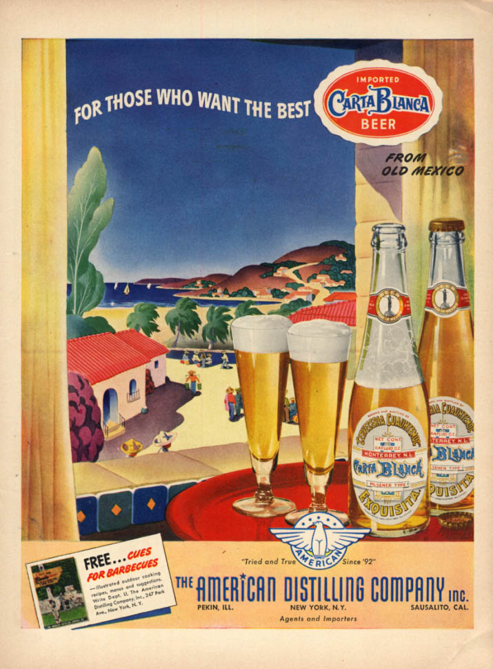 Image for For Those Who Want the Best Carta Blanca Beer from Old Mexico ad 1943 L