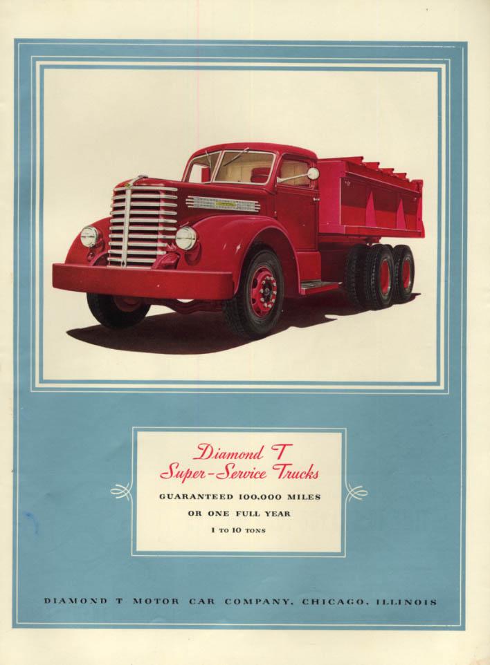 Image for Guaranteed 100,000 Miles: Diamond T Super-Service Dump Truck ad 1940 L