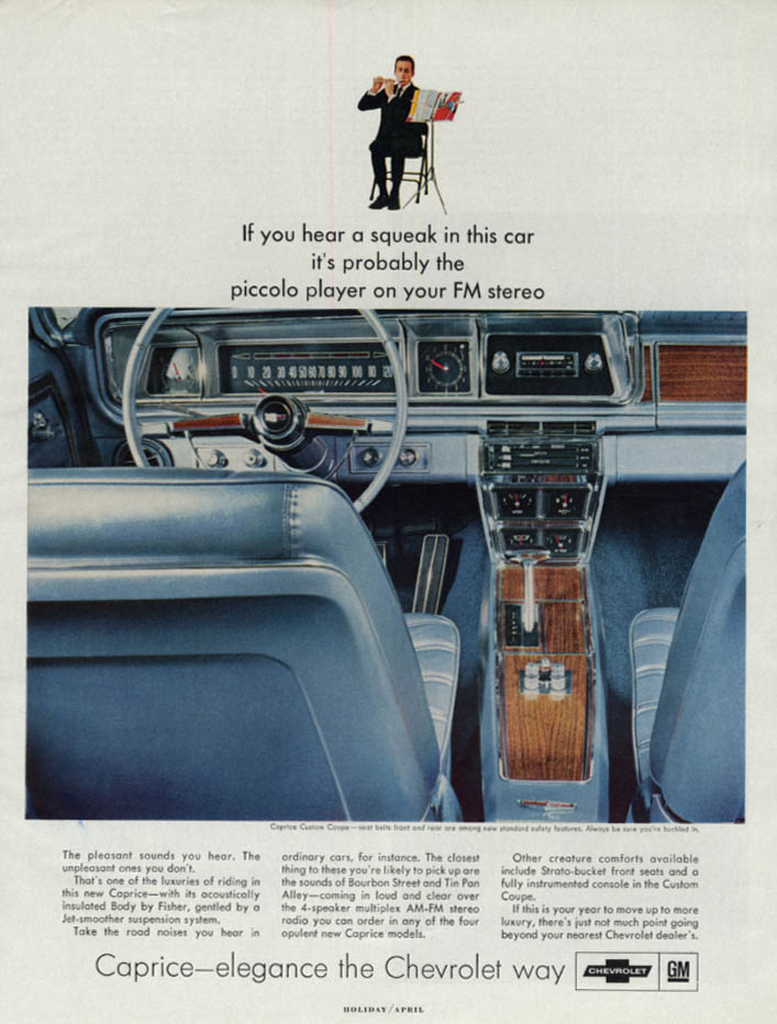 If you hear a squeak it's the piccolo player Chevrolet Caprice ad 1966 H
