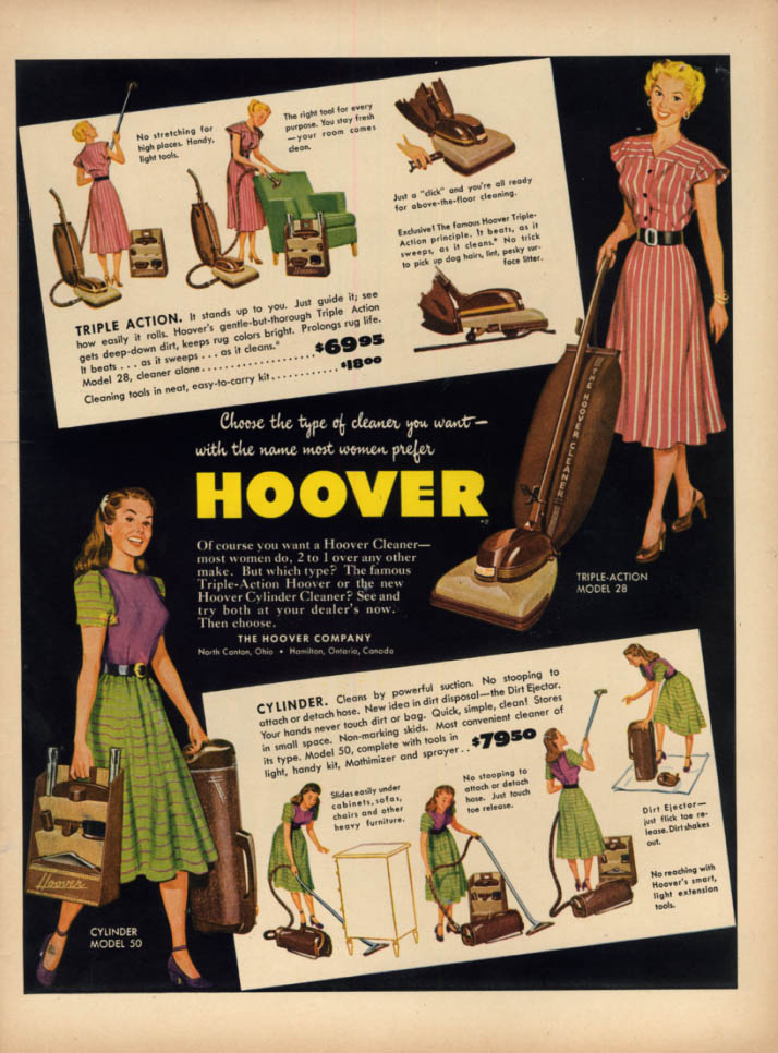 Image for Choose the type you want Hoover Vacuum Cleaner ad 1948 L