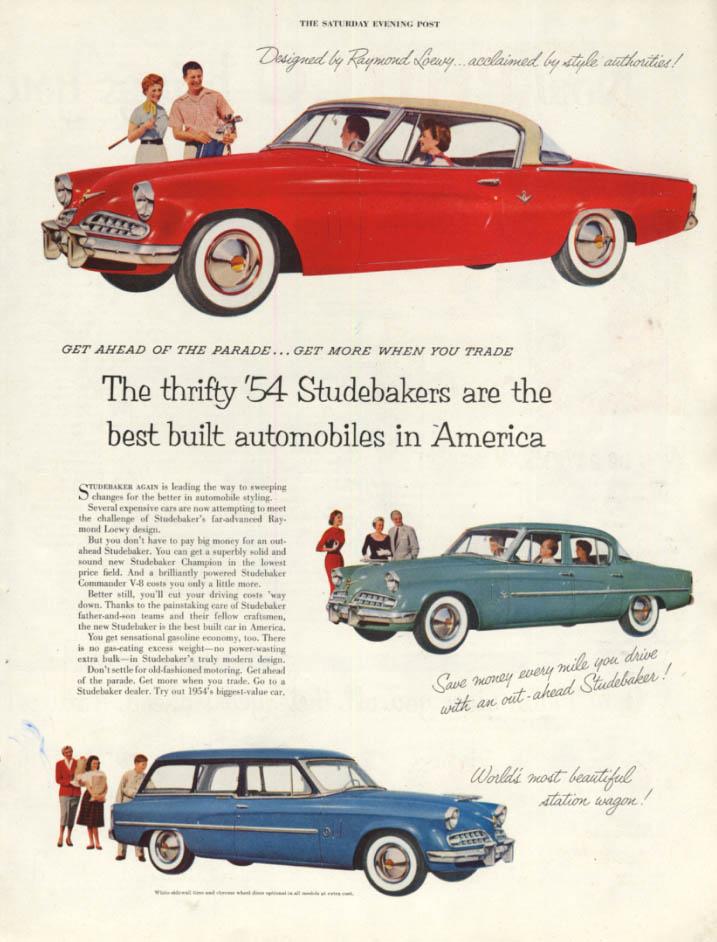 Image for Best built in America - Studebaker Coupe Sedan & Wagon ad 1954 SEP