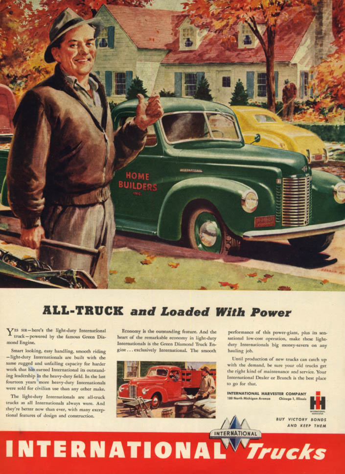 Image for All-truck and loaded with power International Pickup Truck ad 1946 L