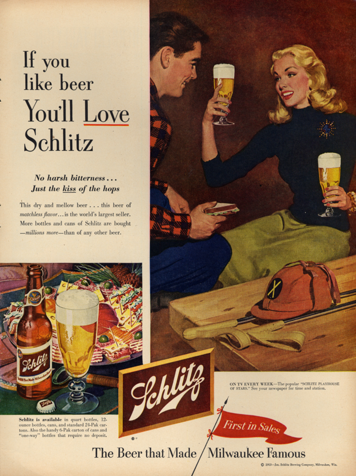 Image for If you like beer You'll Love Schlitz ad 1953 after the polo match L