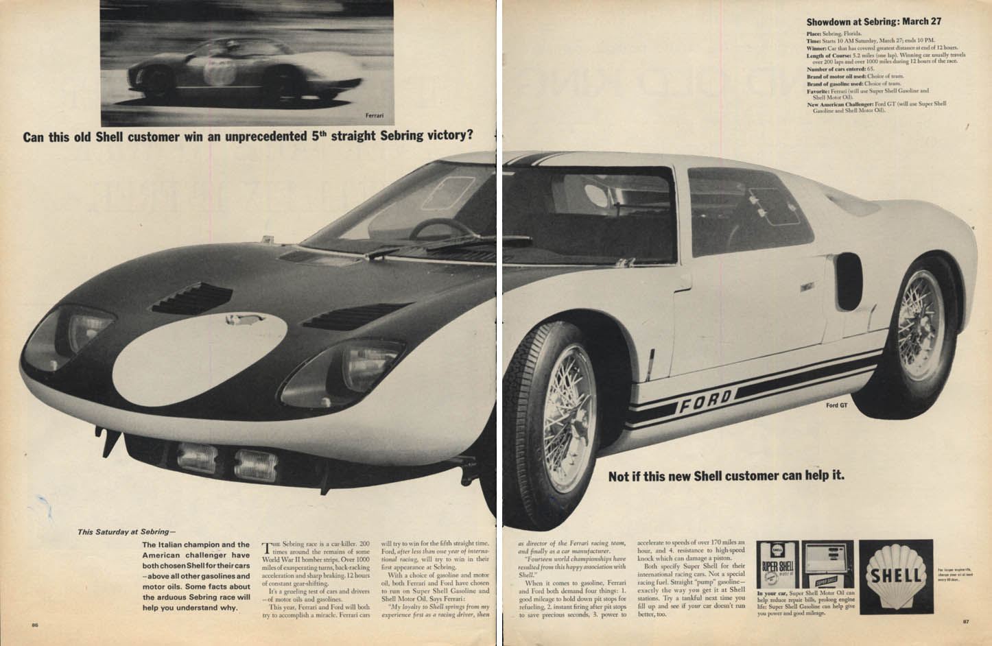 Image for Can Ferrari win a 5th straight Sebring win? Not if Ford GT can help it Shell ad