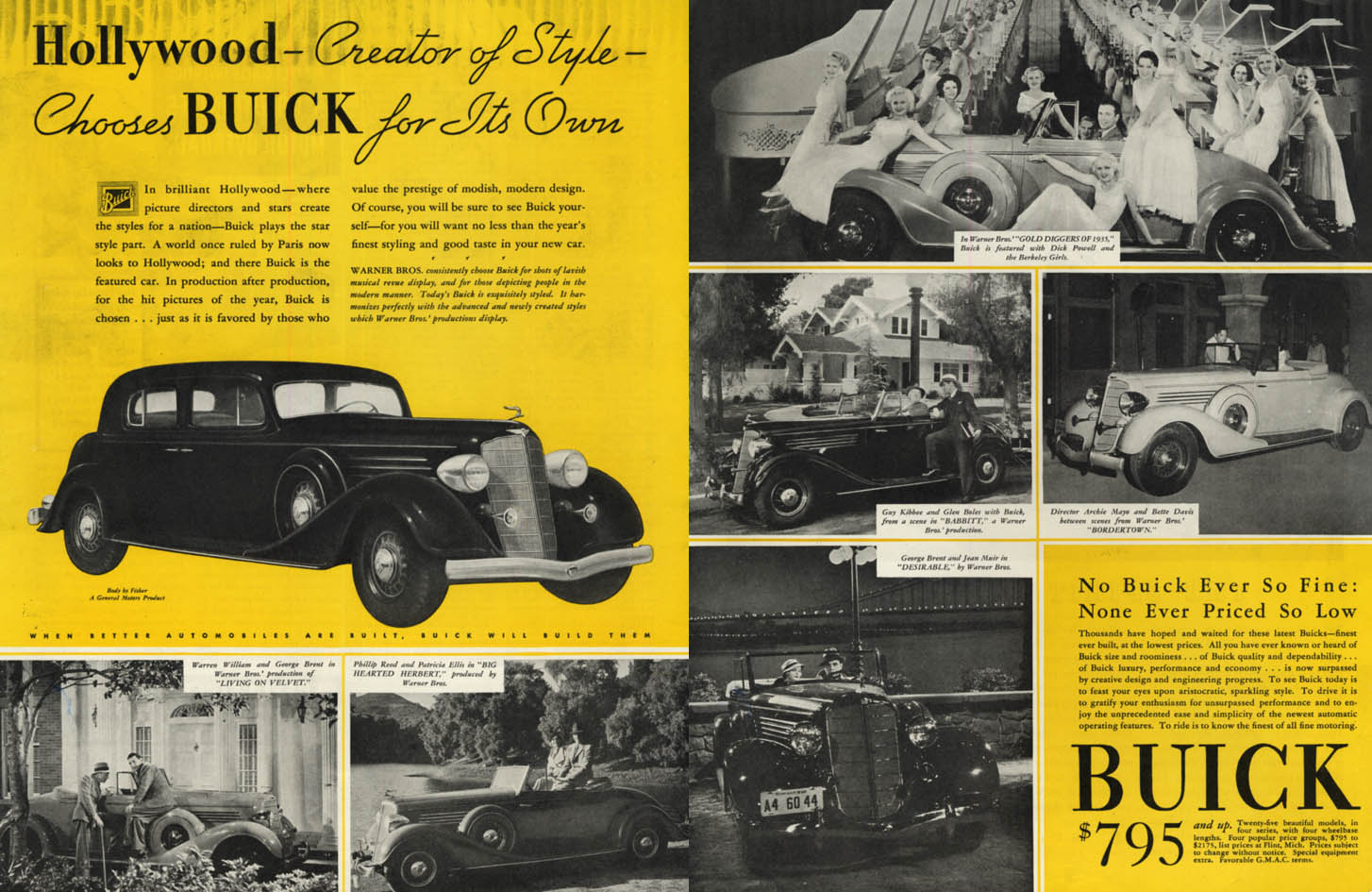 Image for Hollywood - Creator of Style - Chooses Buick for Its Own ad 1935 SEP