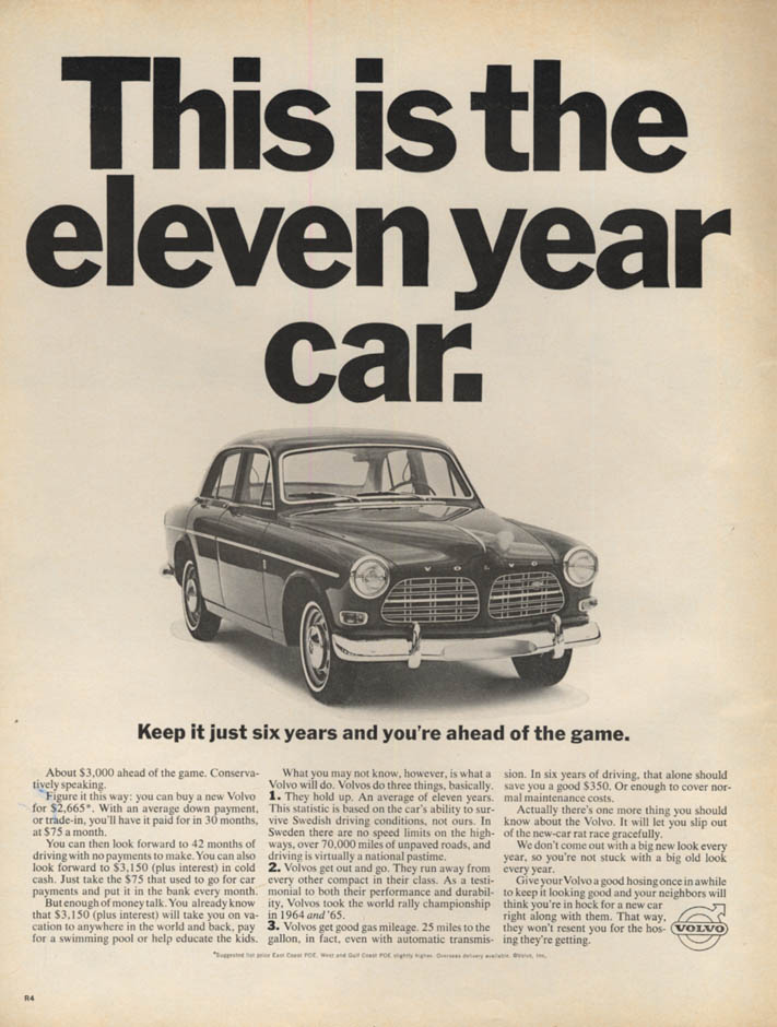 Image for This is the eleven year car Volvo 122 ad 1966 1967 L