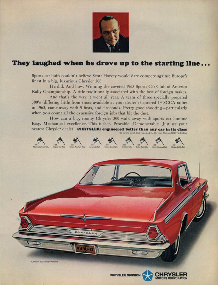 Image for They laughed when he drove to the starting line Chrysler 300 ad 1964 L