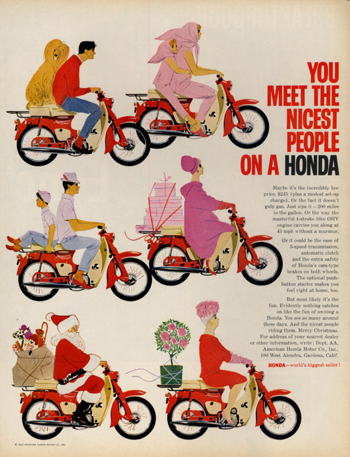 Image for You meet the nicest people on a Honda Motorcycle ad 1963 Honda 50 L