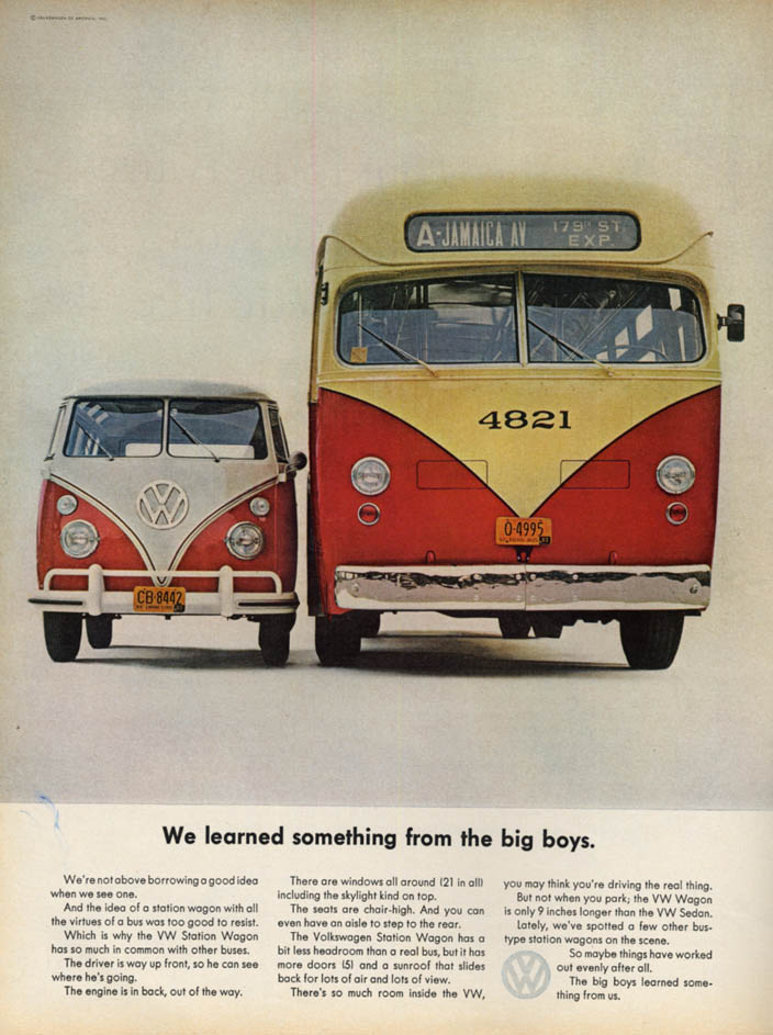 Image for We learned something from the big boys Volkswagen Station Wagon ad 1063 L