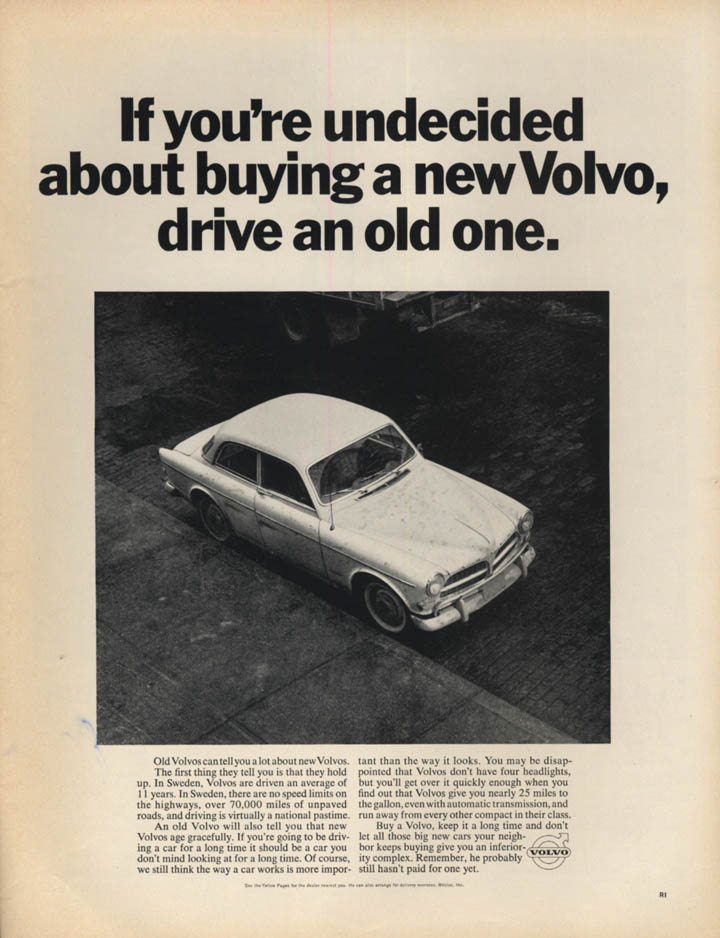 Image for If you're undecided about buying a Volvo 122, drive an old one ad 1967 L