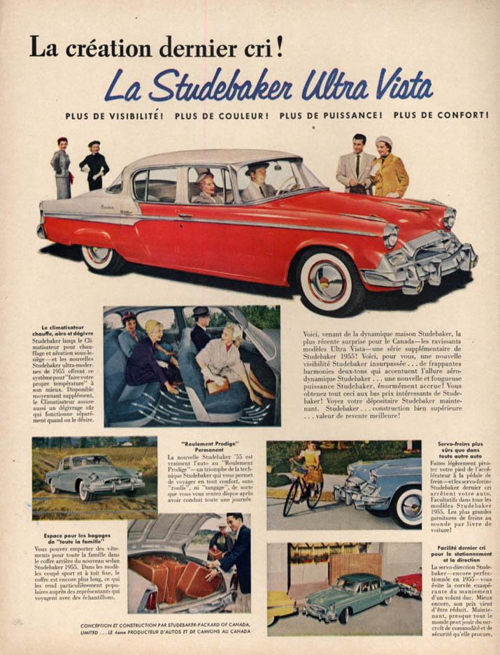 Image for La creation dernier cri! La Studebaker Ultra Vista ad 1955 in French