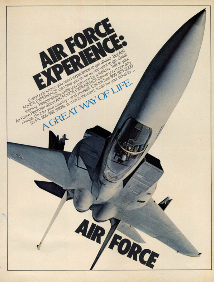Image for Air Force Experience US Air Force McDonnell Douglas F-15 Eagle ad 1980