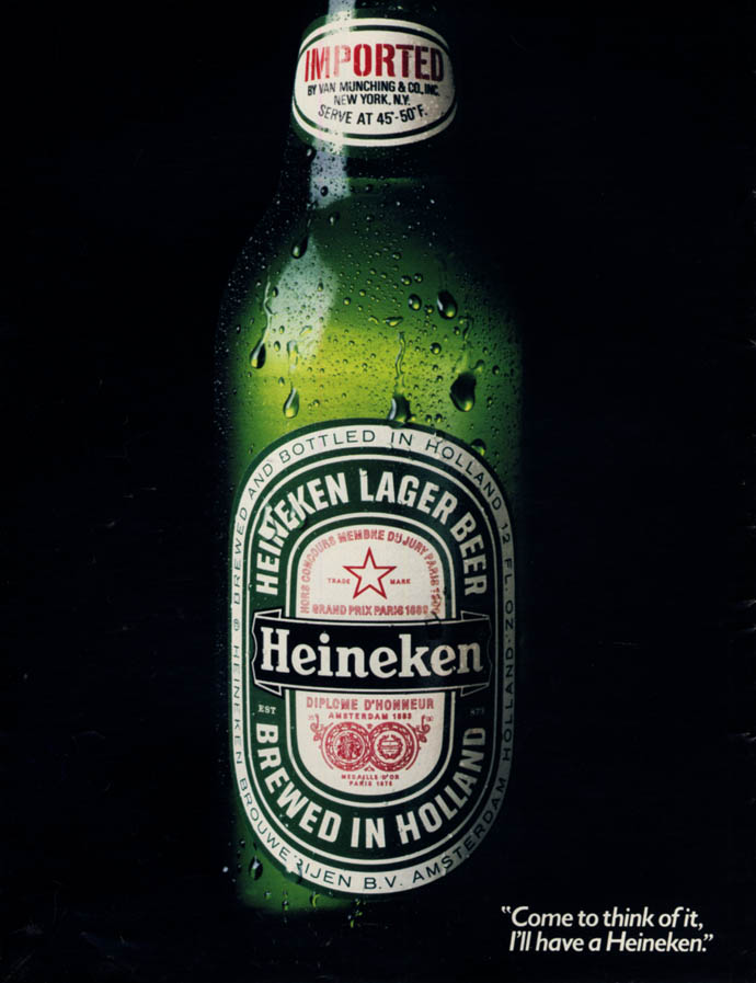 Image for Come to think of it, I'll have a Heineken Lager Beer ad 1982 L