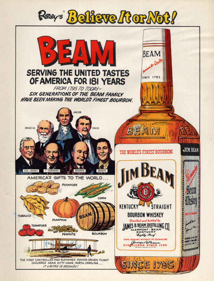 Image for Ripley's Believe It or Not! For Jim Beam Bourbon Whiskey ad 1976 L