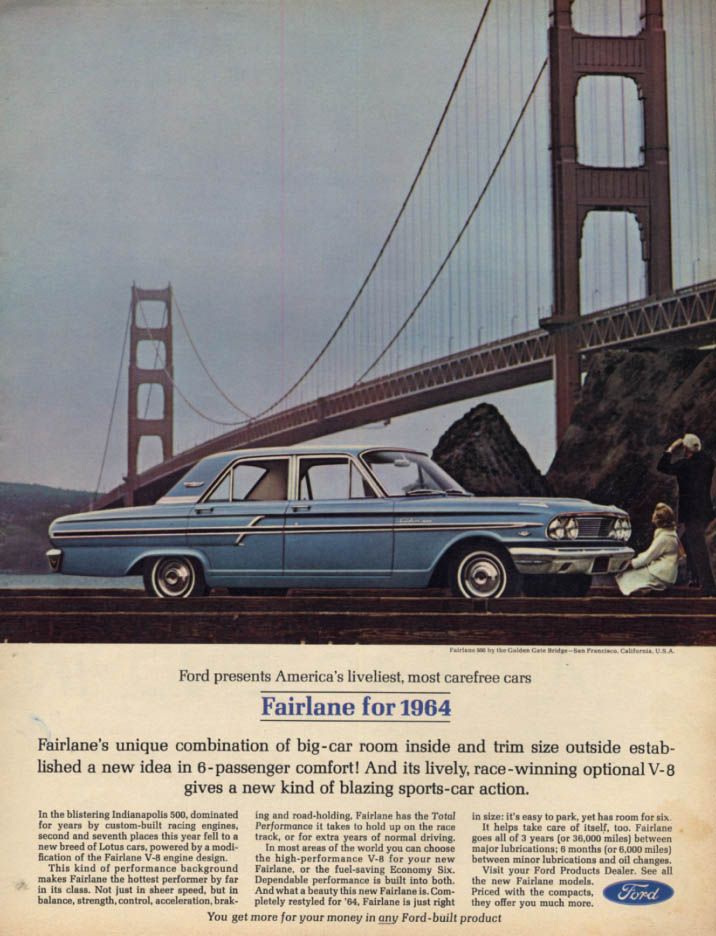 Image for America's liveliest most carefree cars Ford Fairlane 500 ad 1964