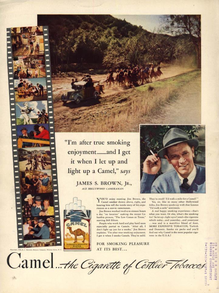 Image for Hollywood Cameraman James S Brown Jr for Camel Cigarettes ad 1939 L