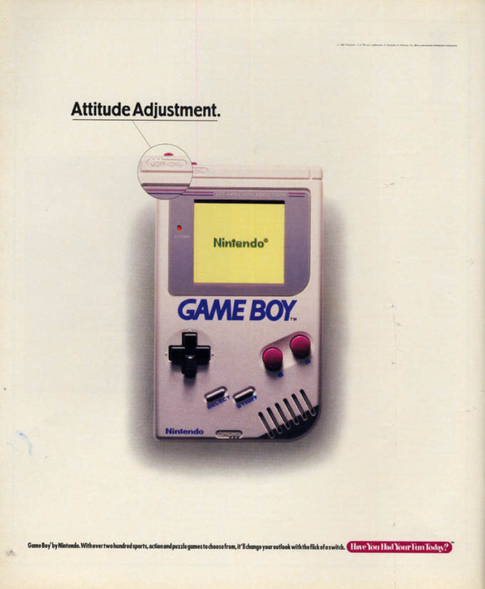 Attitude adjustment - Nintendo Game Boy MAGAZINE AD 1992 L